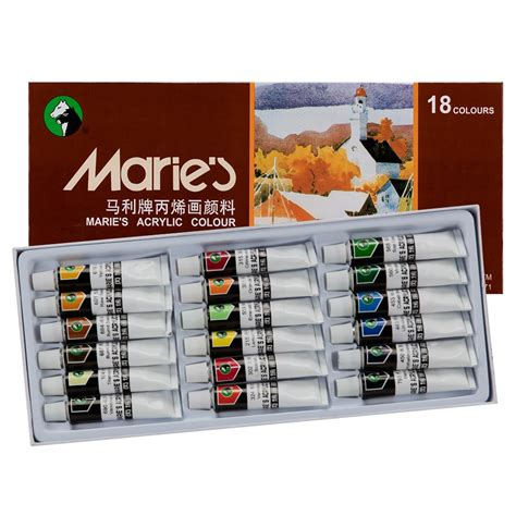 Maries Acrylic Set 18 Color 12 Ml s acrylic set acrylic paint jerry s