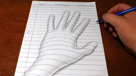 How To Make 3d Drawings On Paper - how to draw easy line paper trick 3d versi on the spot