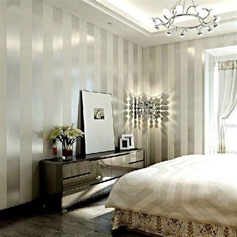bedroom wallpaper stripes grey sliver stripe non woven wallpaper for living room