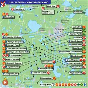 golf courses map orlando golf map with top golf courses and best golf resorts