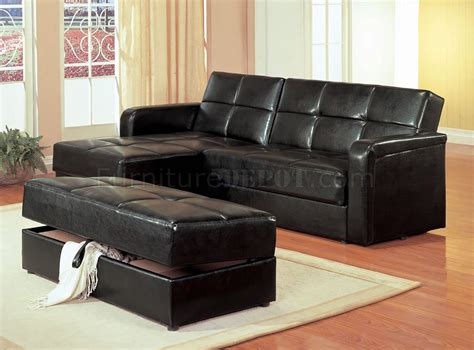 vinyl sectional sofa black vinyl modern small sectional sofa w storage and ottoman