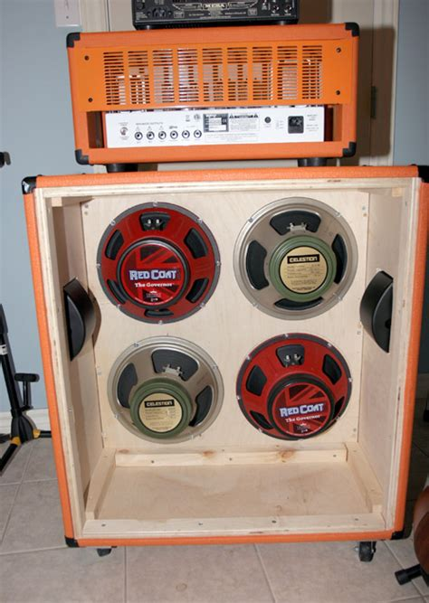 orange ish 4x12 cab build progress pics ultimate guitar
