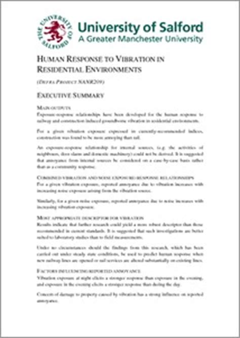 human response to vibration in residential environments