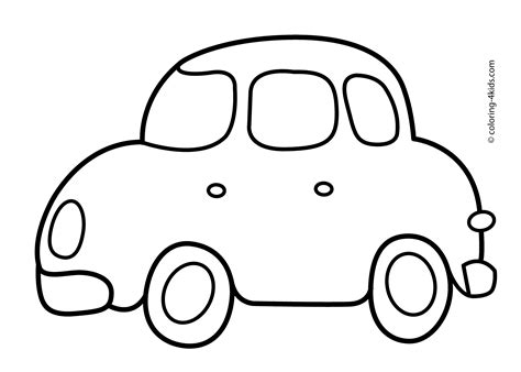 coloring book pages simple easy coloring cars coloring pages