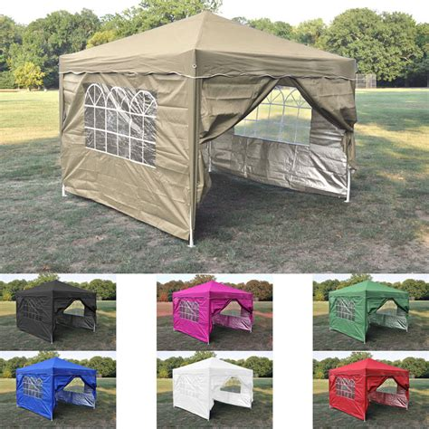 Canopy Tent With Sidewalls - new 10 x 10 outdoor pop up canopy tent with