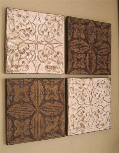 Tin Ceiling Tiles On Walls by 25 Best Ideas About Tin Tiles On Faux Tin