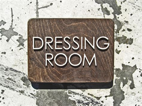 dressing room laser cut sign office way finding signage