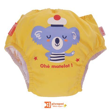 couche bebe piscine maillot de bain couche piscine b 233 b 233 nageur piwapee motif koala