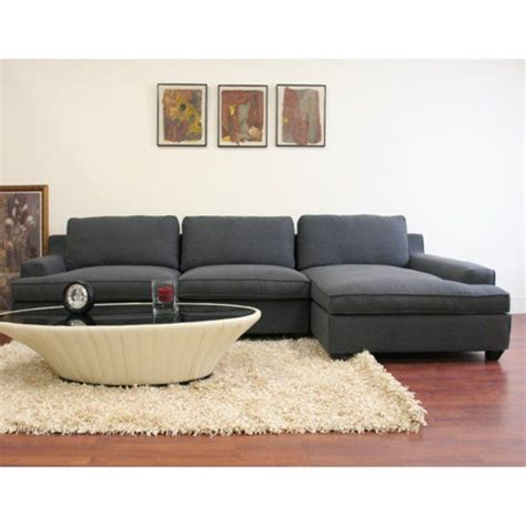 twill sectional wholesale interiors kaspar gray twill sectional sofa