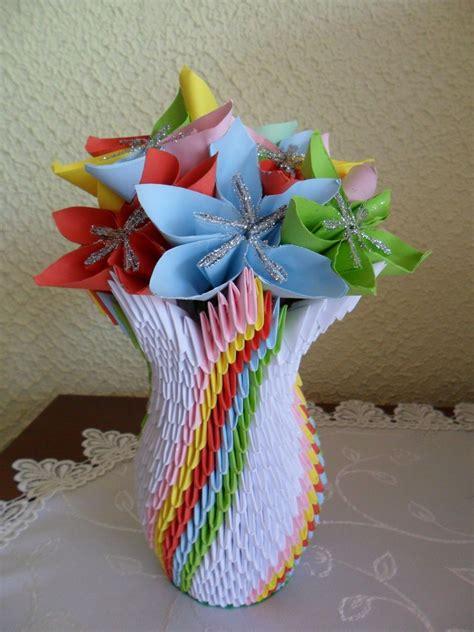 3d origami vase tutorial 6 how to make 3d origami units quick tutorial