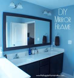 how to frame out a bathroom mirror diy bathroom mirror frame with molding the happier homemaker