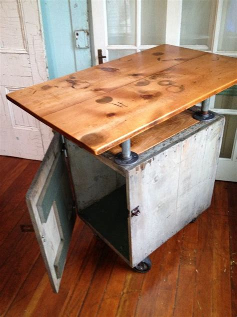 reclaimed kitchen islands reclaimed wood industrial kitchen island on casters bar