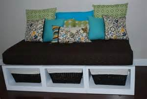 Diy Daybed Bench White Storage Daybed Diy Projects