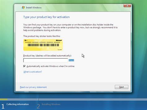 key generator for windows vista