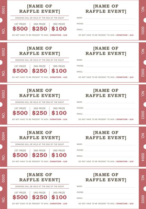 printable tickets for fundraiser raffle ticket template 2 positively printable