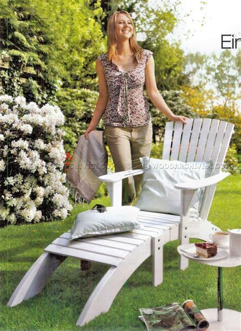 adirondack chair  footrest plans woodarchivist