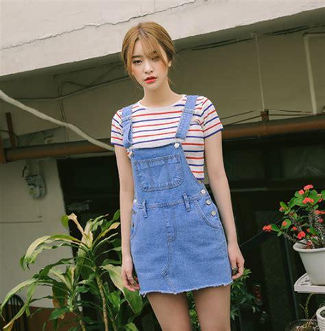 overall korea stylenanda denim overall dress kstylick
