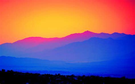 wallpaper dawn mountains hd nature