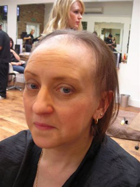 old lady headshave head shave bald women headshave desigirl donationg here hair for h der s wig part 1