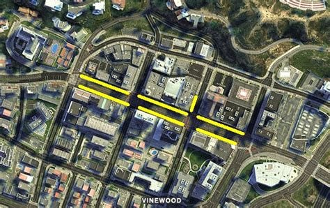 walk of fame map image vinewood walk of fame gtav map jpg gta wiki fandom powered by wikia