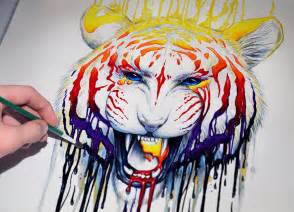 colorful tiger speedpainting quot fading quot how to paint a colorful tiger