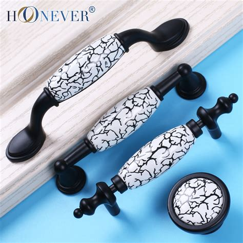 Country Style Kitchen Door Handles by 4pcs Country Style Door Handles Black Drawer Pulls