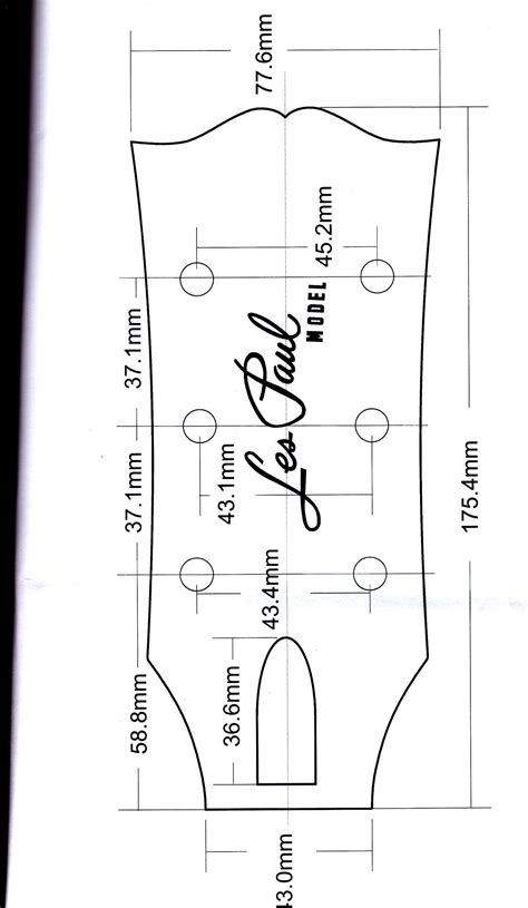gibson les paul headstock template gibson headstock dimensions images guitar