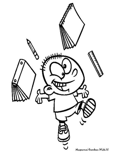 Mewarnai Kartun Anak Sekolah | Mewarnai Gambar