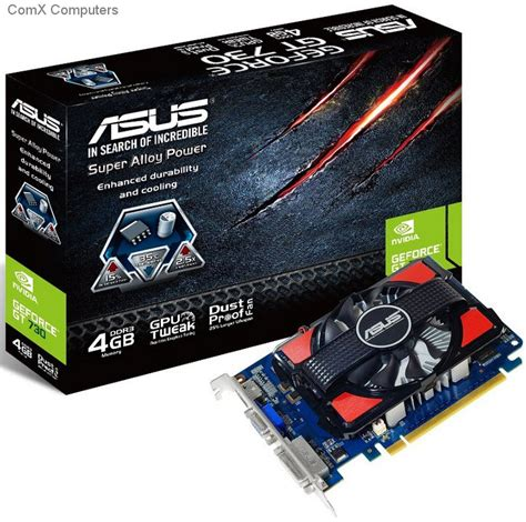 Asus Geforce Gt 730 specification sheet gt730 4gd3 asus nvidia geforce gt 730 4gb ddr3 128 bit graphics card
