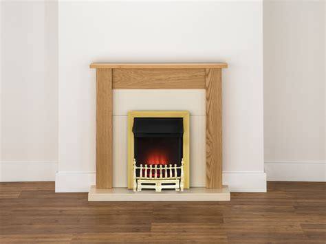 Ribbon Fireplaces by Adam Southwold Fireplace Suite In Oak With Ribbon Brass