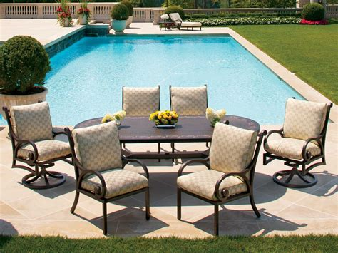 cast classics patio furniture cast classics georgetown cast aluminum dining cushion set