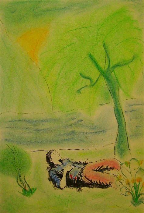 Illustration De La Poesie Le Dormeur Du Val by Le Dormeur Du Val