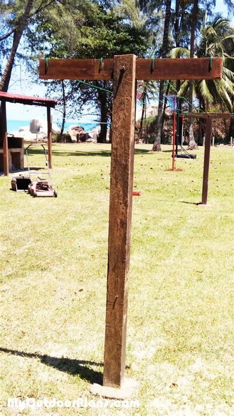 free plans to build this diy trellis clothesline save diy clothesline myoutdoorplans free woodworking plans