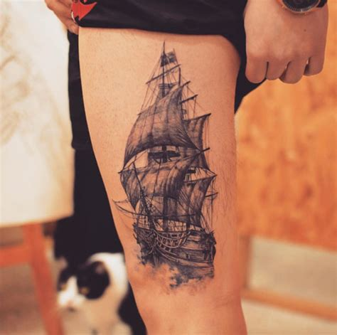 detailed tattoo designs for men 50 amazing ship tattoos you won t believe are real