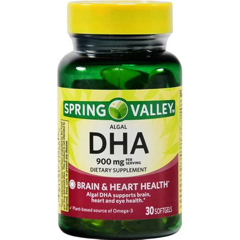 supplement dha valley algal 900 dha dietary supplement softgels