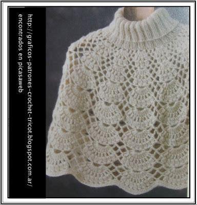 capas tejidas a gancho tejidos a crochet ganchillo patrones ponchos tejidos