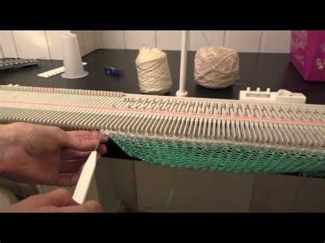 set up knitting setting up lk150 knitting machine knit