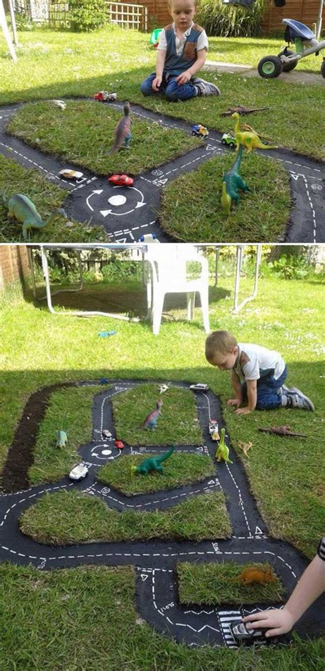 Backyard For Children by Backyard Diy Race Car Tracks Your Will Instantly