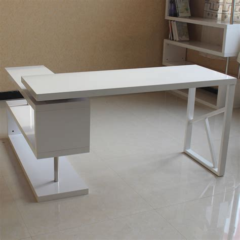 Modern Simple Desk Simple Modern Computer Desk Cool Furniturel Shaped White Modern Computer Desk With Brown