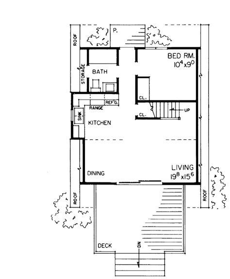 a frame house floor plans a frame home plan 810 square 1 bedroom 1 bathroom