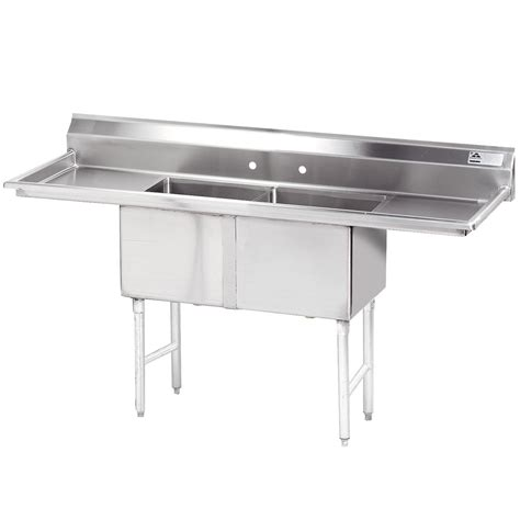 Stainless Steel Commercial Sinks by Advance Tabco Fc 2 1824 18rl Two Compartment Stainless