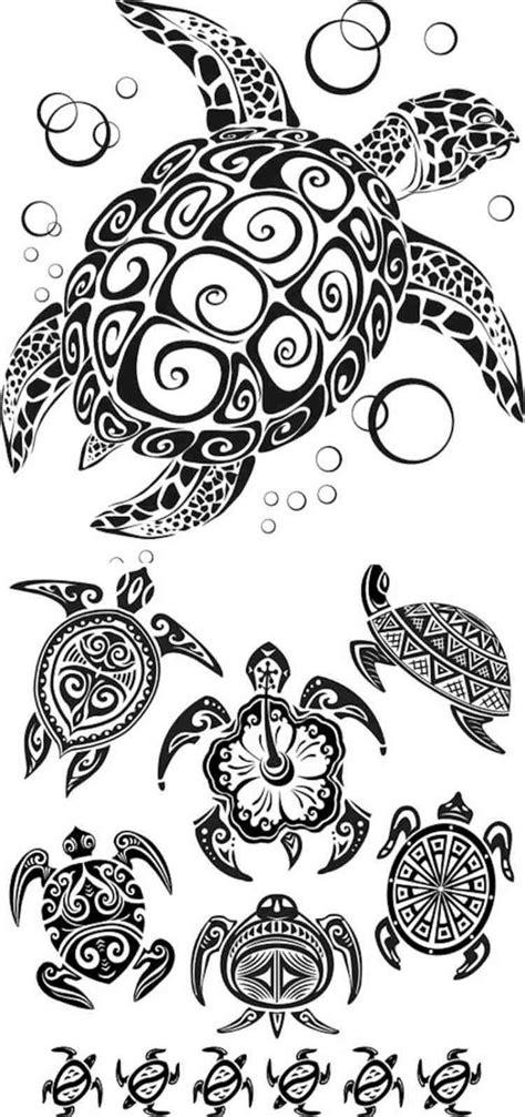 schildkroeten designs mit tribal  fotoideen