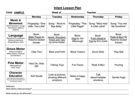 Infant Lesson Plan Template Provider Sle Alternative Screenshoot Davidhamed Com Infant Lesson Plan Template