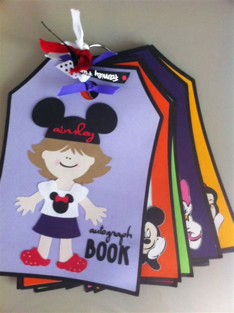 Handmade Disney Autograph Books - handmade custom disney autograph book by threepapertulips