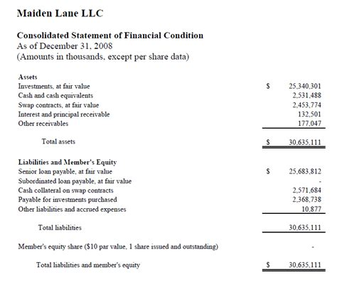 llc financial statement template maiden llc consolidated financial statements 2008