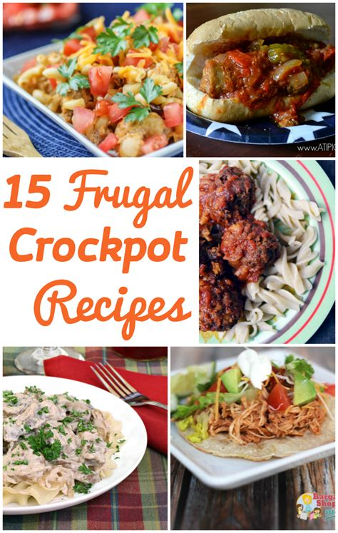 15 frugal crockpot recipes frugality gal