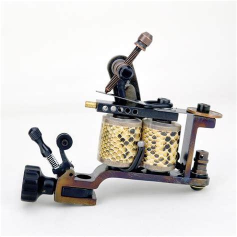 tattoo needle machine hand made saber damascus tattoo machine with needle