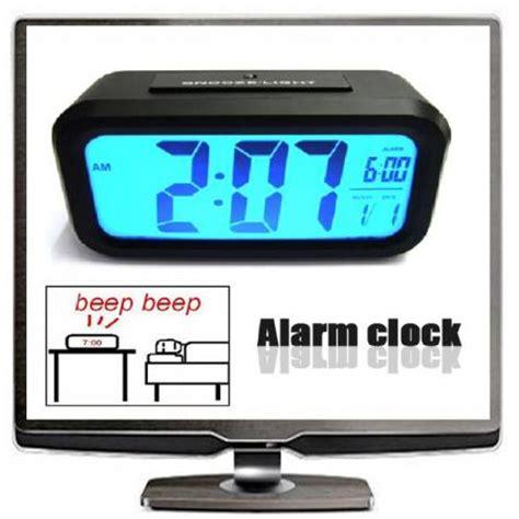 new digital led desk alarm clock big lcd snooze / light