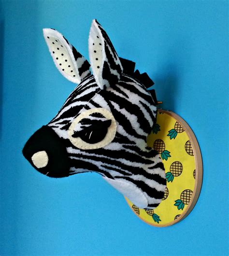 zebra head pattern zebra head sewing pattern faux taxidermy pdf diy safari