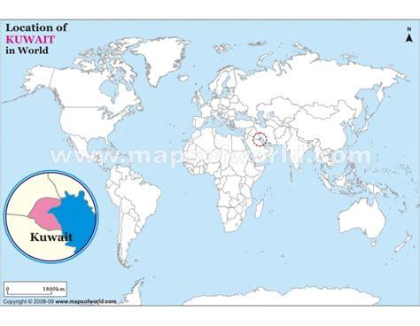 kuwait map in world buy kuwait location on world map
